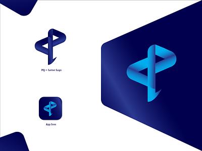 PQ Letter Logo Presentation app graphic design design icon ui branding brochure design typography minimal logo