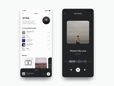 Music Player Test Expanded Example music podcasts spotify podcast voice sound app ui mobile player mp3 players listview list view listing ios lists list