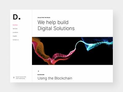 Digitale.dk web og app udvikling webdesign agency minimalistic homepage webpage website landingpage