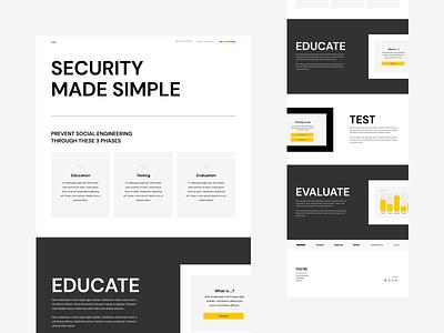 SaaS Landing page platform design dansk design landingpage homepage webdesign website