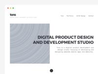 Landingpage for agency / studio