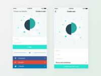 Login and create screen