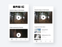Basic - a video app design pitch