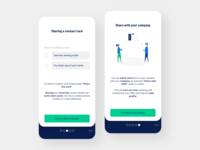 Onboarding screens mobile for Stinto