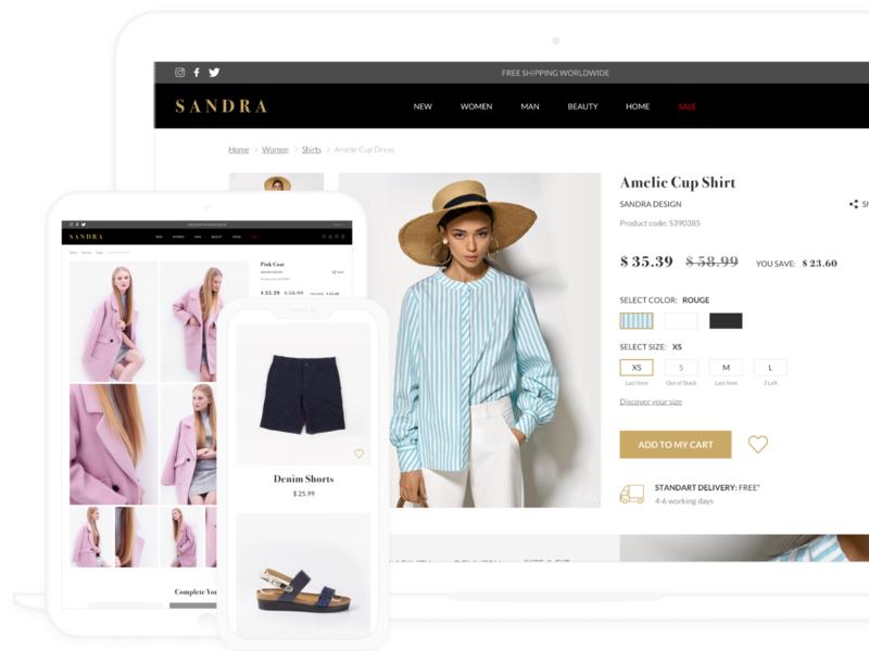 Fashion website ui web design