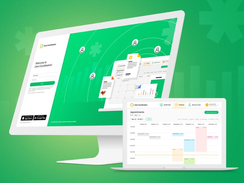 Healthcare Corporate Portal web app web design health portal healthcare uiux web ui webdesign