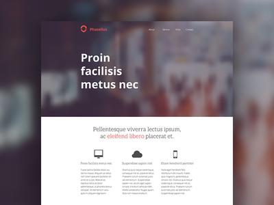Vector website template website landing template clean typography flat sale web responsive blur theme startup