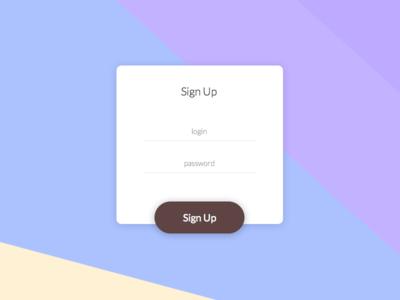 Sign Up ux ui dailyui login signup