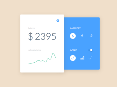 Settings widget graph balance money currency settings ux ui 007 dailyui