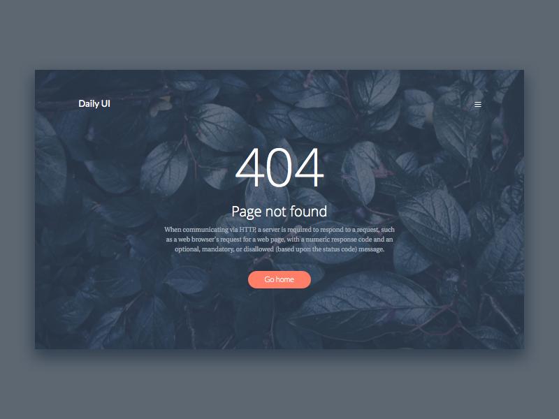 404 page page 404 ux ui 008 dailyui