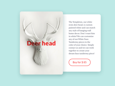 Product card head deer market cart card product e-commerce ux ui 012 dailyui
