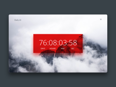Countdown timer time timer countdown ux ui 014 dailyui