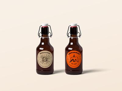 Beer Bottles summer design branding logo illustration art photoshop illustrator graphicdesign graphic mockup beer