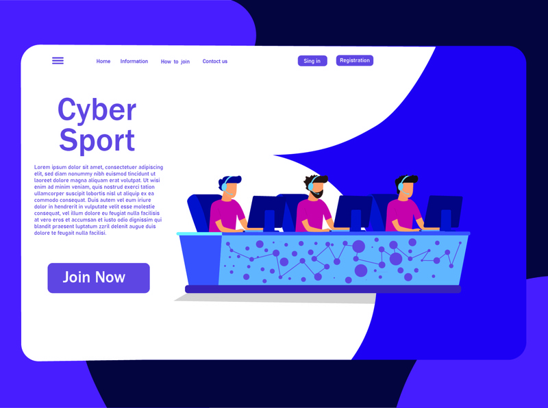 esport desing 01 web vector illustration