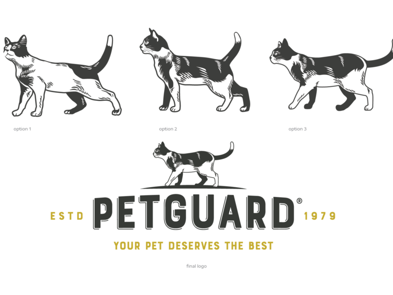 Petguard Dog and Cat Logo Illustration