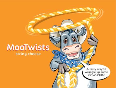 MooTwists Cow Illustration