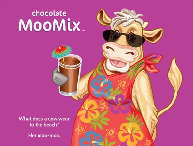 Moo Mix Cow packagingdesign vector illustration