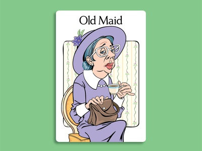 Old Maid Illustrations vector illustration