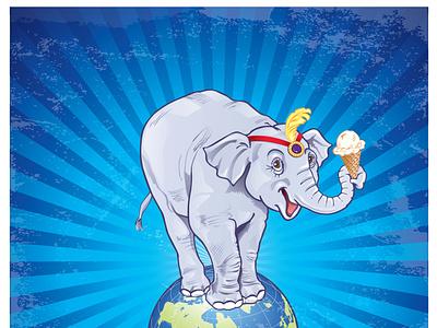 Worlds Fair Elephant typography branding character development packagingdesign logo vector illustration