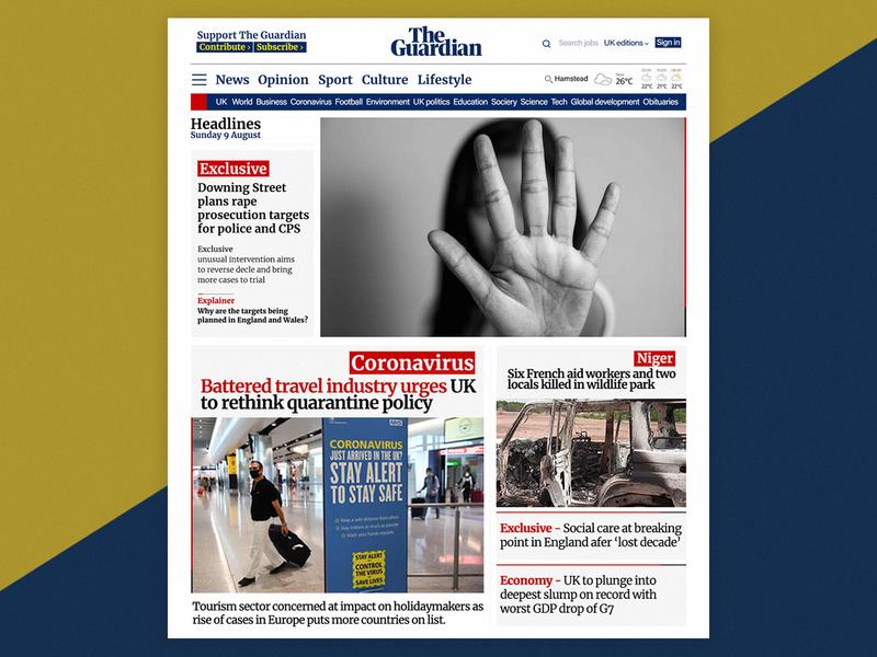 News site design photoshop webdesign ui