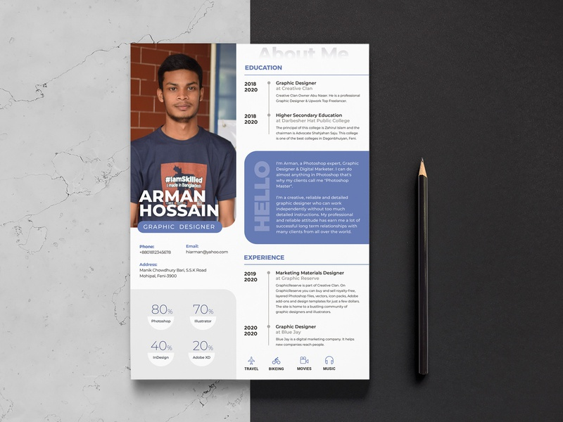 Executive Resume Template 2018 from static.dribbble.com