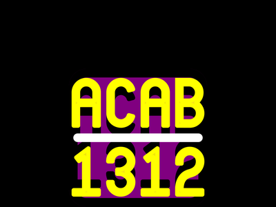 ACAB 1312 wordmark typography vector anarchy police dissent protest graphic logotype graphic design 1312 acab