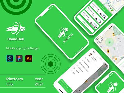 HomeTAXI mobile app ios app design ios mobile app design mobile design mobile mobile ui typography designer app web ux ui figma design