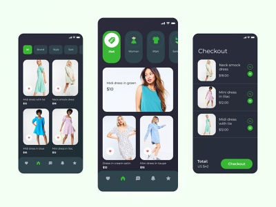 Fashion Store Mobile App shop store web ui designer app ux design figma