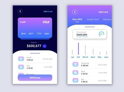 Banking app design visa app design app bankingapp ui user interface design user experience userinterface uidesign uiux