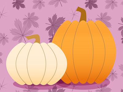 Lavender Pumpkins autumn pumpkins color pattern vector nature illustration