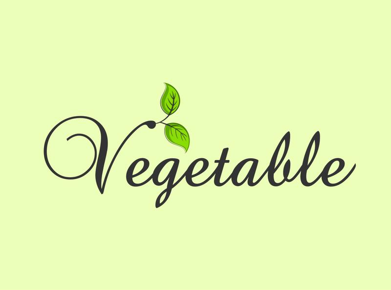 Leaf Vegetable Logo Design