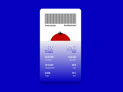 Daily UI 014 - Boarding Pass uiux flight boarding boardingpass japan airline boarding pass dailyui ux ui design figma design interface ui daily ui challenge daily ui