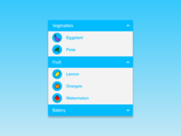 Daily UI 027 - Dropdown Menu ui component mobile design mobile app mobile ui vegetables fruit icons icon set icon design iconography grocery list grocery invision sketch interface ui design ui design daily ui challenge daily ui