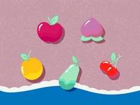 Daily UI 028 - Illustration fan art game art game design fruits fruit animal crossing flat vector illustration interface ui design design ui daily ui challenge daily ui