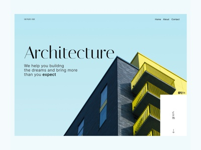 WEB - EXPERIMENT architecture shopify design concept buy background image background typography landingpage ecommerce ui