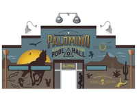 Palomino Mural WIP