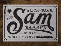 Slick Back~Sam