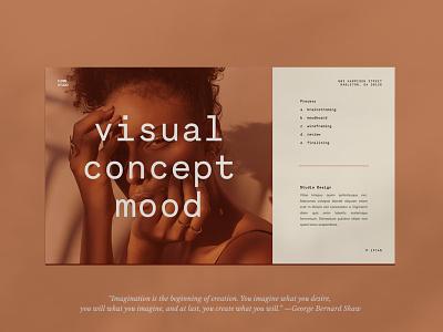 Visual Concept Mood illustration design contemporary boho style aesthetic beauty font bohemian boho