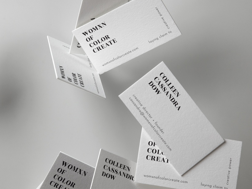 Branding for Womxn of Color Create typography brand and identity business cards branding