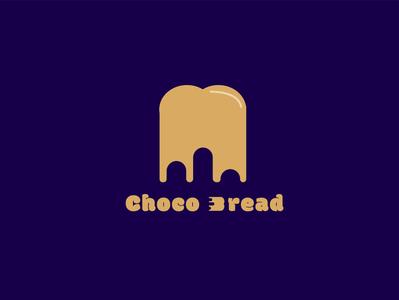 choco bread chocolate bread simpel vector design branding logo food food illustration