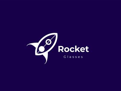rocket rocket illustration brand blue simpel vector design branding logo