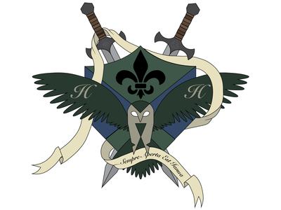 Family Crest owl family crest adobe illustrator logo design
