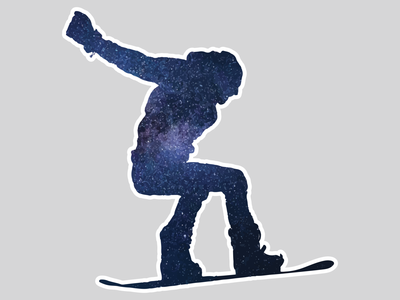 Snowboarder Sticker photography adobe photoshop illustrator snowboarder