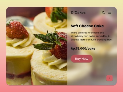 D Cakes Shop Web App healthy uiux design web app design food cakeshop cakes
