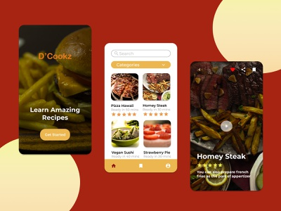 D'Cookz App self-development recipes uiuxdesign iosapps culinary app cooking app