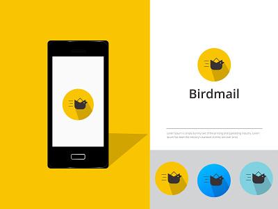Bird Mail Logo delivery global graphic design animation branding logo