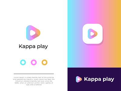 Kappa play app Logo, Branding Logo animation motion graphics graphic design logo 3d logo design creative logo minimal logo app logo video play modern logo brand identity illustration graphicstockbd typography logodesign branding design branding