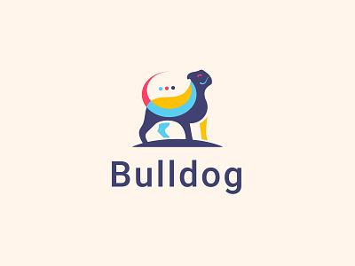 Bulldog clever creative design dog bull bulldog finance brand invest growth colors colorful