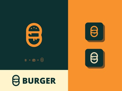 BURGER Logo, B Letter Logo, Logo Design food food logo b letter b letter logo burger logo burger modern logo logo illustration design graphicstockbd brand identity typography logodesign branding design branding