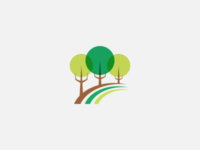 Green Trees Logo herbal identity logo branding graphic design tree
